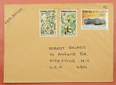 1980 Burkina Faso Multi Franked Airmail Cover To Usa