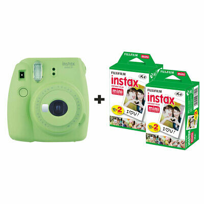 Fuji Fujifilm Instax Mini 9 Instant Camera with 40 Shots - Lime Green