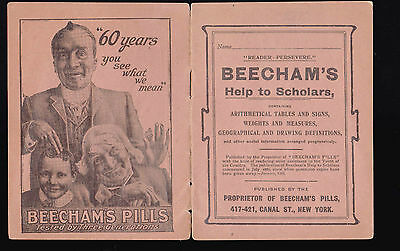 Beecham's Pills Help to Scholars booklet (16 pages) Arithmetical Tables