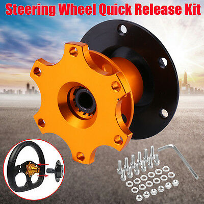 Universal Car Steering Wheel Snap Off Quick Release Hub Racing Adapter Boss Kit