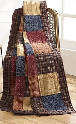 Country Throw Quilt Rug Blanket Patchwork Large Hand Quilted 140x178cm 55x70""