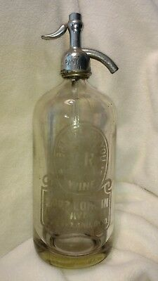 Vintage Glass Siphon Seltzer Bottle Cleveland Ohio
