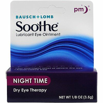 Bausch & Lomb Soothe Lubricant Eye Ointment Night Time Dry Eye Therapy 1/8 oz