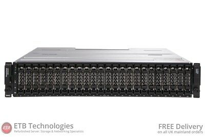 Dell PowerVault MD3620f - 24 x 600GB 15k SAS, Dell Enterprise Class HDDs, Rails