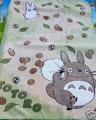 "55""X40"" Studio Ghibli My Neighbour Totoro Super Soft Fleece Blanket Multiuse"