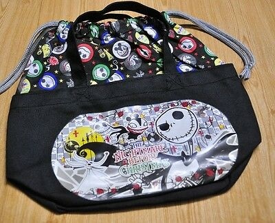 Nightmare Before Christmas Jack Skellington Drawstring Tie String Lunch Box Bag
