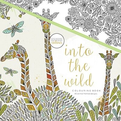 Kaisercraft Kaisercolour Into The Wild 25X25CM colouring book CL504 NEW