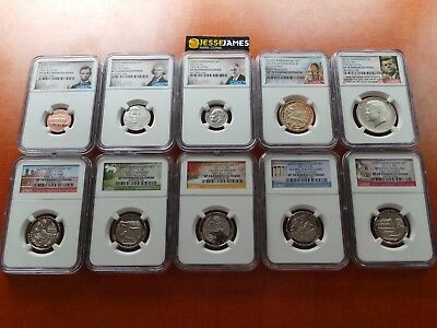 2017 S 225Th Anniversary Enhanced Uncirculated Ngc Sp70 First Releases Set