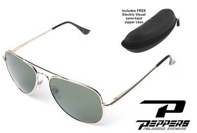 739714f36f NEW Peppers Freeway Gold Mirror Aviator Polarized Sunglasses + Electric Case