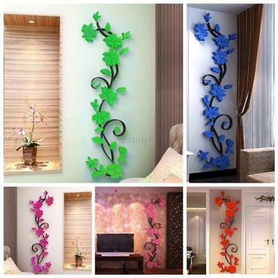 Home Wall Decals 3D Sticker Fleurs Autocollant Mural Morden Art Home Décoration