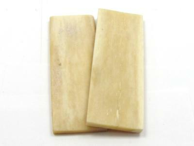 New-Knife-Parts-Kits-Accessories : NATURAL BOVINE BONE Scale/Handle Slabs