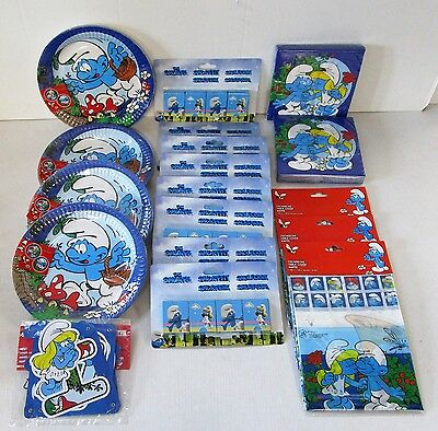 The Smurfs Party pack for 32 People - Smurf Party Tableware and decorations.