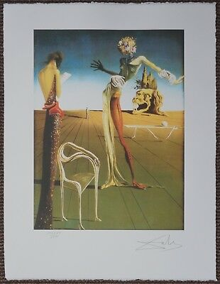 Salvador Dali 'Woman with head of Roses' Signed Lithograph Lim. 2000 pcs.