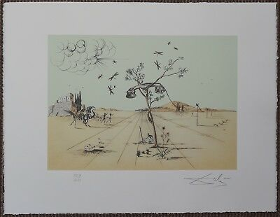 Salvador Dali 'Disembodied - telephone' Signed Lithograph Lim. 2000 pcs.