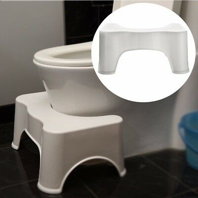 Toilet Squatty Stool Bathroom Potty Squat Aid For Constipation Piles Relief 9""