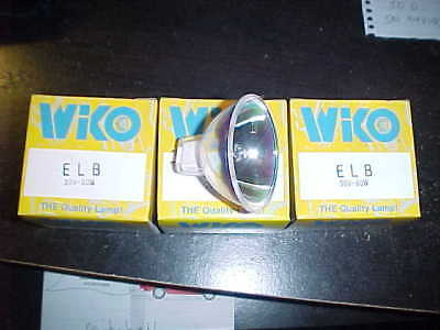 3 NOS WIKO ELB  30V 80W Projector Projection Lamp Light Bulb  Lot