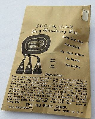 Vintage RUG-A-DAY Rug BRAIDING KIT - NEW