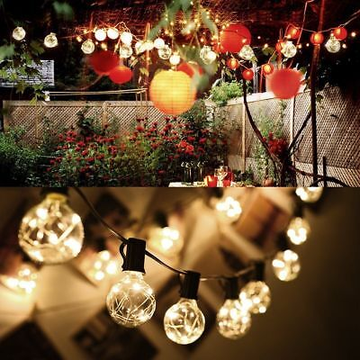 18ft String Lights with 25LED G40 Bulb Outdoor Globe Christmas Party Decor Light