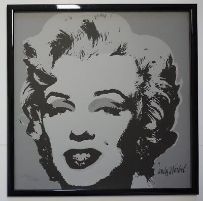 J - Andy Warhol Marilyn Monroe Signed Lithograph - Limited 170 of 2400 pcs.