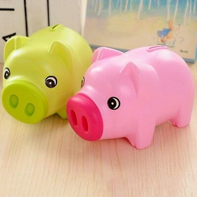 Pink Piggy Bank Coin Cash Money Box Case Pig Toy Christmas Children Kids Gifts