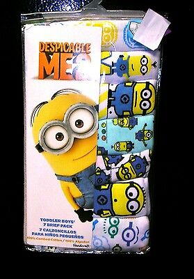 """despicable Me 2""    Seven Pairs Boys  Underpants/briefs Size 4T  Nwt"