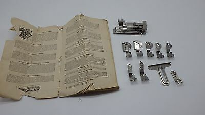 Vintage Sewing Machine Attachments & Instruction Book in 5 Different Languages