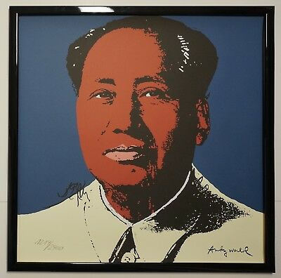 C - Andy Warhol Mao Zedong Signed Lithograph - Limited 1214 of 2400 pcs.
