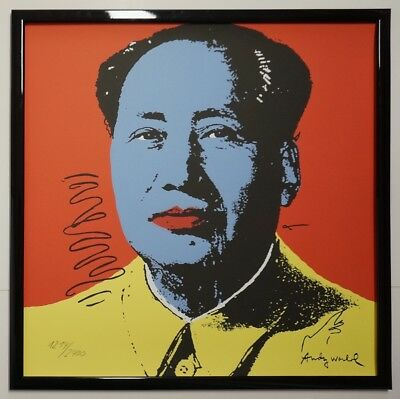 J - Andy Warhol Mao Zedong Signed Lithograph - Limited 1214 of 2400 pcs.