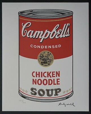 Andy Warhol Campbell's Soup 'Chicken Noodle' Signed Lim. 1928/3000 pcs.