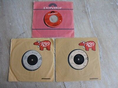 "ERIC CLAPTON DEREK AND THE DOMINOS 3 X 7"" SINGLE'S in COMPANY SLEEVES"