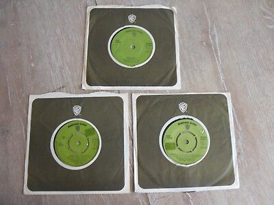 "ALICE COOPER 3 X 7"" SINGLE'S in COMPANY SLEEVES"