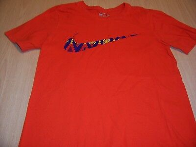 Nike Athletic Cut Short Sleeve Orange T-Shirt Mend Small Excellent Condition
