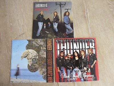 "THUNDER 3 X 7"" SINGLE'S in PICTURE SLEEVES"