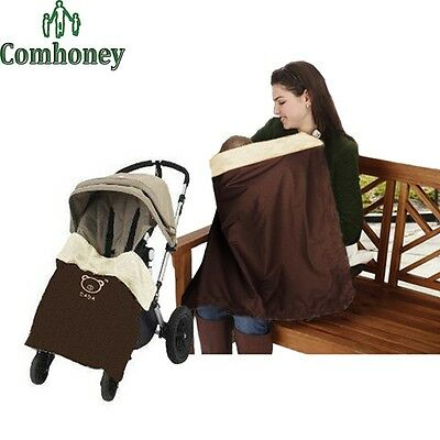 Buggy Blanket & Nursing Cover In One Brown Brand New In Packet