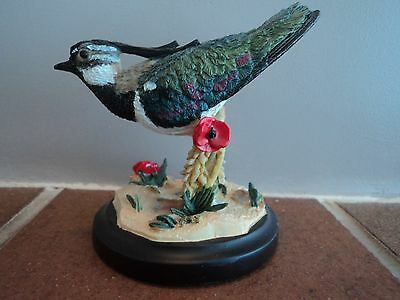 "Vintage (Country Bird) Hand Painted/crafted ""lapwing"" Bird Lovely Item - Unusual"