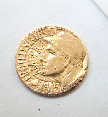 1915 S Panama Pacific Expo $1 Gold Coin Circulated Early Gold Commemorative Coin