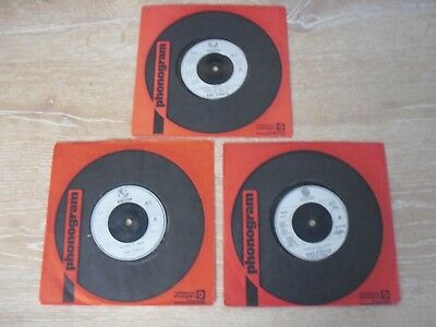 "DIRE STRAITS MARK KNOPFLER 3 X 7"" SINGLE'S in COMPANY SLEEVES"
