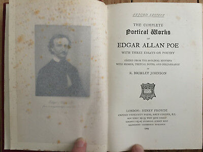 1909 - The Complete Poetical Works of Edgar Allan Poe - Oxford Edition
