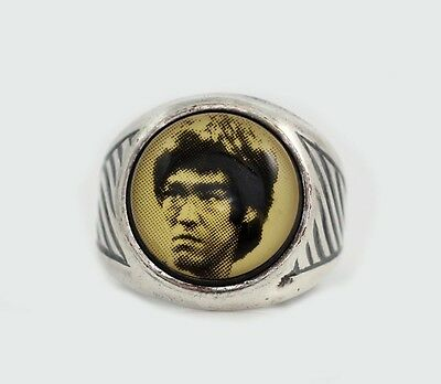 Vintage 1970's Mixed Martial Arts Picture Ring Size 6 Adjustable