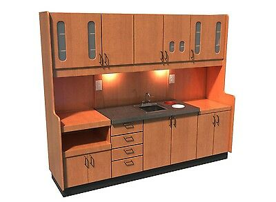 Signature Series Dental Sterilization Unit Compete Real Wood Custom Built Side