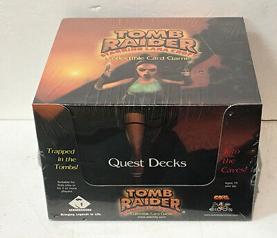 Tomb Raider Lara Croft CCG - 10 Quest Deck Display box 1999 sealed new