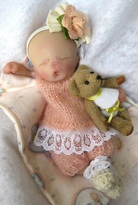 "Ooak baby girl , Gracie, 4.5"",  jointed full sculpt, Artist Original Sculpt"
