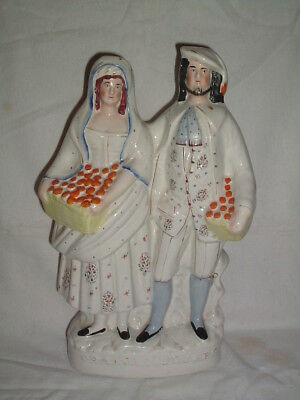Staffordshire Pottery Figure Orange Sellers Circa. 1860