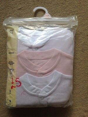 BNIP - Baby Girl Sleepsuits X3 - Age 18-24 months