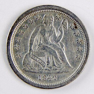 1842-O 10c Seated Liberty Dime Very Fine Details Cleaned Silver Coin A2919