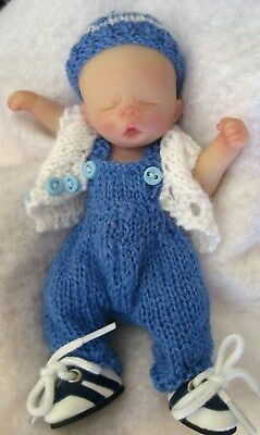 "Ooak baby boy, Graydon, 4.25"" jointed full sculpt, Artist Original Sculpt"
