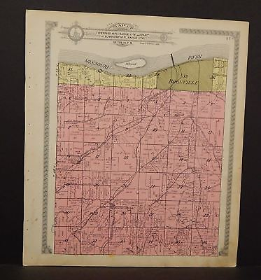 Missouri Cooper County Map Boonville Township 1915 J16#90