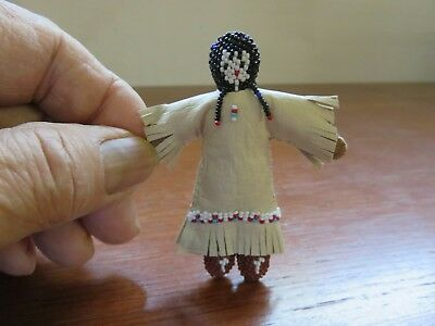 Beaded Leather Indian Doll