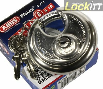 ABUS 26/70 Stainless Diskus Round Padlock Made In Germany