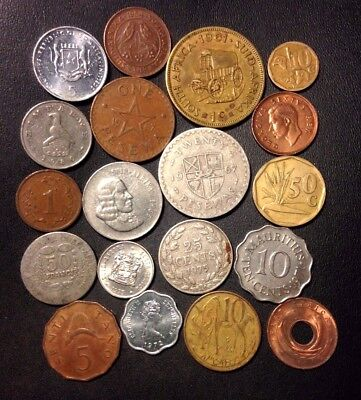 Old Africa Coin Lot - 1942-Present - 19 Great Coins - Lot #912
